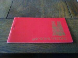 1986  Tuvalu Royal wedding set of 12 mint stamps in booklet