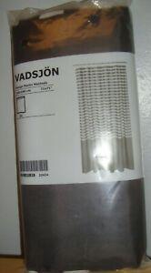 NEW  IKEA VADSJÖN Vadsjon Dark Grey & White Gray Striped Shower Curtain Bathroom