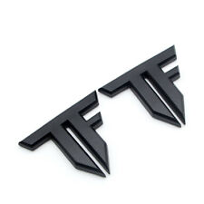 2x Matte Black Metal Fender Transformers 3D Badge Rear Tailgate Trunk TF Emblem