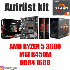 AMD 🆁🆈🆉🅴🅽 5 3600 ● MSI B450 Mainboard ● 16GB RAM ● Ryzen PC Bundle Set Kit