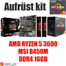 PC Bundle Kit Set ❤ AMD Ryzen 5 3600 ✔ B450 Mainboard ✔ DDR4 16GB 3000 ✔ ≈ 2700