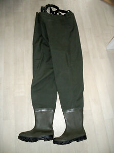 KIBA Wathose  Angelhose Teichhose Watthose mit Stiefel PVC Gummi 40-43