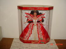"""1997 BARBIE """"HAPPY HOLIDAYS"""" 12"""" DOLL/SPECIAL EDITION/NIB/RED-GOLD-WHT/FREE SHIP"""