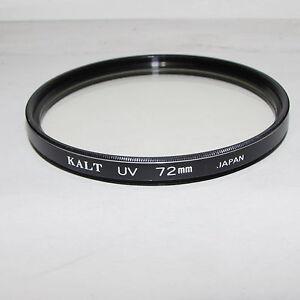Kalt UV 72mm Lens Filter Made in Japan for 300mm 400mm