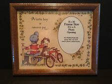 New Vintage 8x10 A Little Boy Is Nature's Joy Personalization Frame