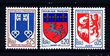 FRANCE - FRANCIA - 1966 - Stemma di Auch, Mont de Marsan, Saint Lo