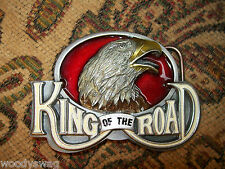 King Of The Road Belt Buckle nos Eagle England Motorcycle Metal