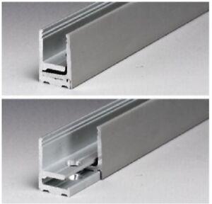 Profilo per vetri a scatto in alluminio grezzo  (per vetri 10.11) di sicurezza
