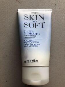 AVON SKIN SO SOFT FRESH & SMOOTH MOISTURIZING+MEADOWFOAM BODY HAIR REMOVAL CREAM