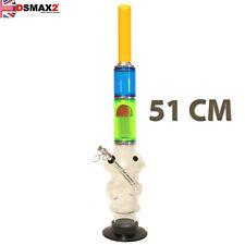 ACRYLIC Bong SINGLE Tree Dome Percolator Water Pipe Waterpipe 51 CM TALL B/G