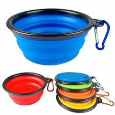 Silicone Pet Travel Bowl for Dog Cat Feeders Camping Portable Foldable Dish