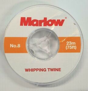 Marlow No 8 Waxed Whipping Twine - White- 23m -75Ft  FREE DELIVERY thread
