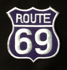 ROUTE 69 AMERICAN HIGHWAY ROAD TRIP CLASSIC CAR BIKER BADGE IRON SEW ON PATCH
