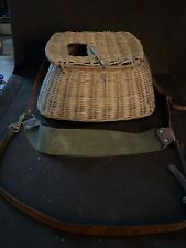 Antique fishing Creel with shoulder strap