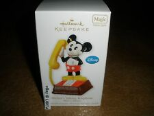 Hallmark 2011 Mickey's Talking Telephone MAGIC Ornament Disney