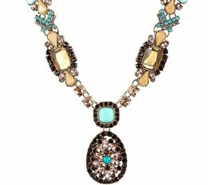 """QVC LOGO Links by Lori Goldstein Antiqued Goldtone Collar 18"""" Necklace $149"""