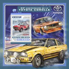 Niger 2016 MNH Toyota Corolla 50th Anniv 1v S/S Motoring Cars Stamps