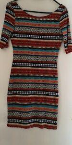 H&M Damen Kleid Hippie Afrikanisches Kleid Gr. S Neu