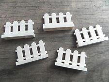 Lego ''PICKET FENCE, White (5 Pack)'' Minifigure, Minifig, City, Friends, Garden