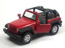 NEU: Modellauto Jeep Wrangler Rubicon ca. 11,5cm rot/offen Neuware von WELLY