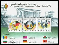 1994 European Football Champs England,Flag,Wales,Georgia,Albania,Moldova,B.5,MNH
