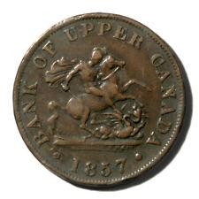 Canada Ontario -Bank of Upper Canada Halfpenny Token 1857 XF KmTn2 Breton-720
