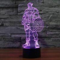 Hero Captain America Illusion LED Lamp, 3D Light Experience - 7 Colors Options