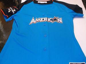 2017 MLB women's ALL-STAR jersey by Majestic L Miami blue