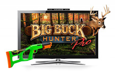 Big Buck Hunter Arcade Video Game Console, Bluetooth Gun Controller, Hunt, Shoot