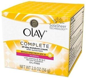 Olay Complete All Day Moisture Cream Broad Spectum SPF 15 oil free 2 Oz