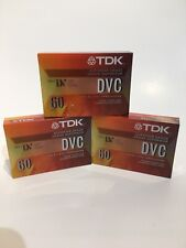 TDK DVC60 Mini DV Digital Video Cassette 60 min sealed Superior Grade LP 3 Tapes