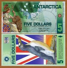 Antarctica, $5, Polymer, 31-3-2008, NEW, UNC Britannia