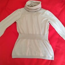stefanel turtle neck sweater, 100 % wool, beige, size xs/s, excellent condition