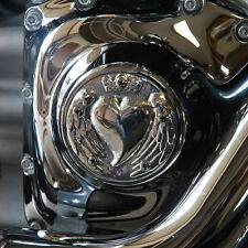 Angel wing heart points cover. Polished aluminum. Harley Twin Cam. PCHP-1
