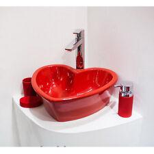 """Bathroom Ceramic Sink Basin Bowl Porcelain """"LOVE IS RED"""""""