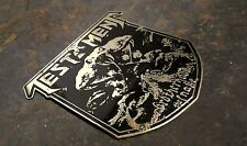 TESTAMENT Brotherhood of the. Engraved Brass Badge Patch Pin, Collector's Grade