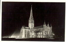 Wiltshire: Salisbury Cathedral in Floodlights - RP - Unposted 1958