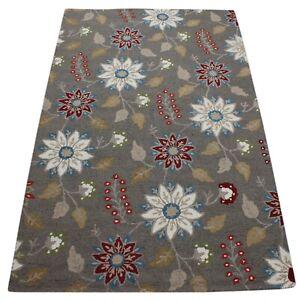 Grey Carpet 100% Wool Oriental Rug 150x240 CM Hand Woven MH924