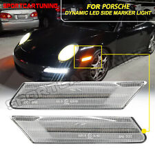 2x Sequential LED Side Marker Lights For Porsche 911 997 Cayman 987C Boxster 987