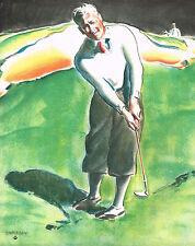 1930s Big Old Vintage Charleson Golf Clothing Golfing / Golfer Art Print Ad