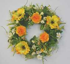 Türkranz Dekokranz Frühlingskranz, Blütenkranz Anemonen, Ø 31 cm