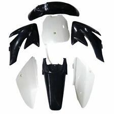 FOR CRF70 Copies Style Bla/White Plastics Guard Fairing Fender Dirt/Pit/Pit Bike