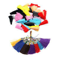 60pcs Mixed Silky Tassels Pendant for DIY Jewelry Making Wedding Decoration