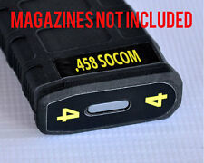 .458 SOCOM MAG STICKERS fits MAGPUL PMAG 30 GEN M3 AR15-M4 YELLOW  NUMBERS 1-6