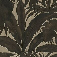 VERSACE GIUNGLA PALM LEAVES WALLPAPER ROLLS - BLACK GOLD - 96240-1