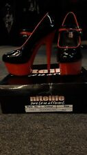 Nitelife Black/Red Patent High Heel/Stiletto Sexy/Erotic/Pole Dancing Shoes UK 3