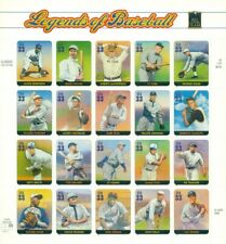 US: 2000 LEGENDS OF BASEBALL; Complete Sheet Sc 3408; 33 Cents Values