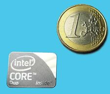 INTEL CORE DUO  METALISSED CHROME EFFECT STICKER LOGO AUFKLEBER 21x16mm [652]