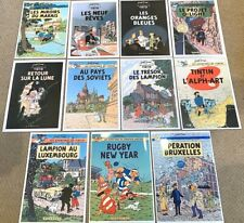 More details for parody tintin covers print set of 11 by harry edwood unofficial a4 poster herge