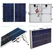 160W 2*80W Portable Folding Suitcase Solar Panel RV Yacht Motor Home Boat